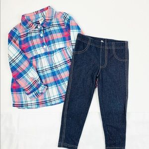 Carter's Matching Sets - Carter's Fall Plaid Long Sleeves Matching Set 2T